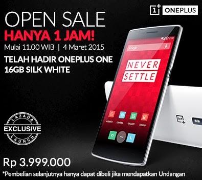 OnePlus One Harga Spesial Hanya 1 Jam Rp 3.999.000