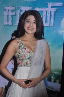 Pranitha spotted at Pranitha movie press meet in a Spicy Sleeveless Deep Neck Gown