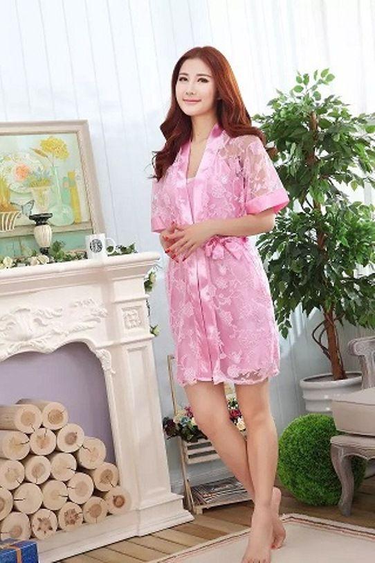 Gambar Baju Tidur Kimono Lingerie SL1210 Soft Pink