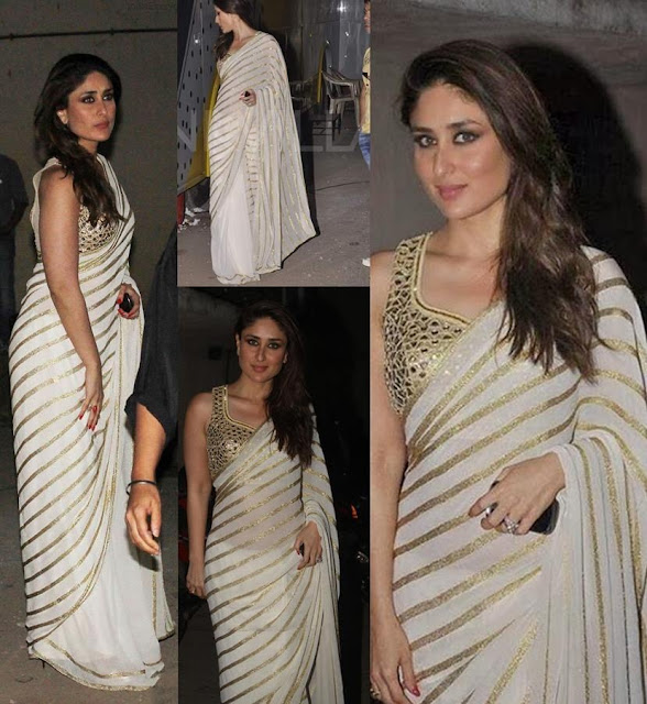 Kareena Kapoor in Designer White Saree