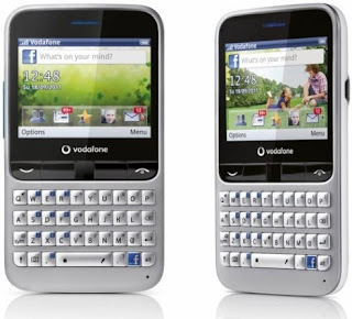 Vodafone 555 Blue Facebook Phone with QWERTY Keypad