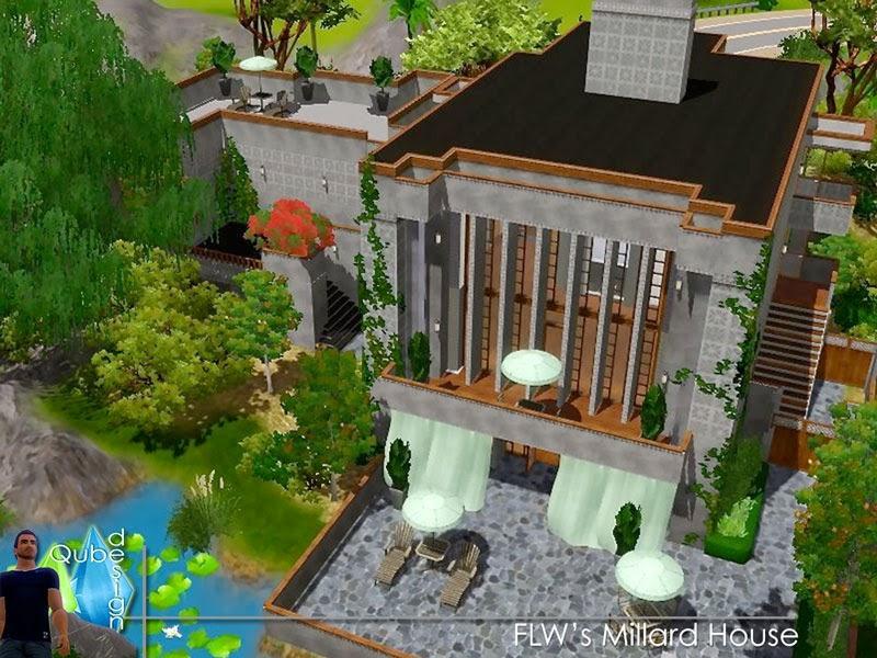 Millard House qubedesign: flw's millard house
