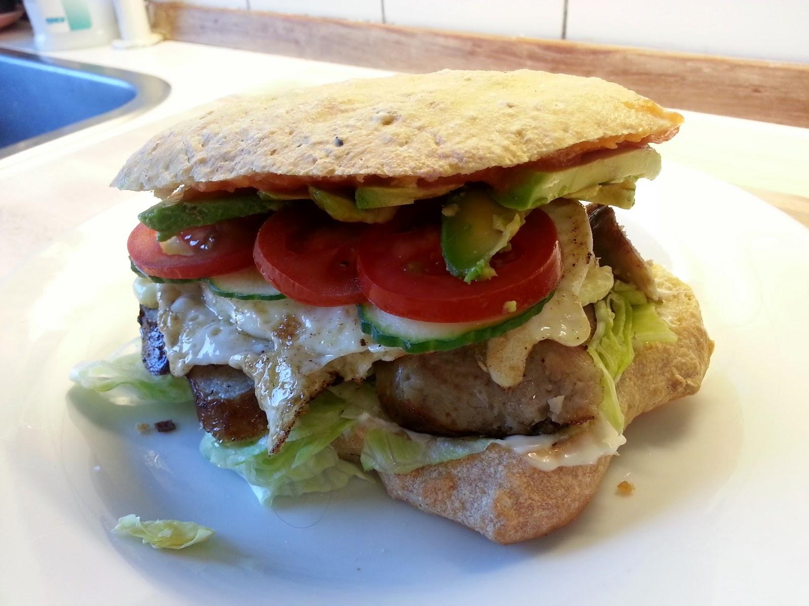 Sandwich med pølse