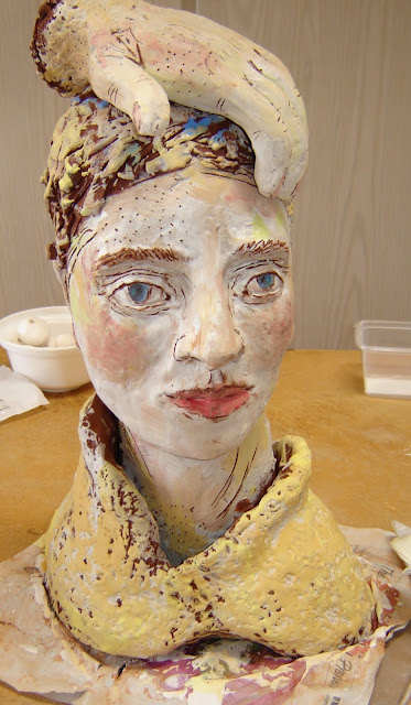 Painted Lady with Hand on Head