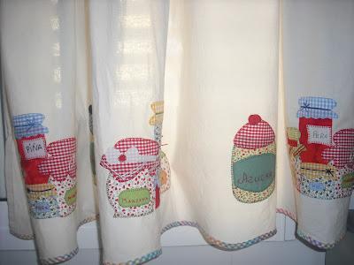 El patchwork de marga cortinas de cocina - Patchwork para cocina ...