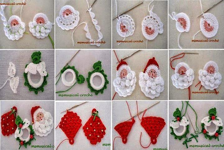 Ideas de adornos navideños para tejer al crochet / patrones y paso ...