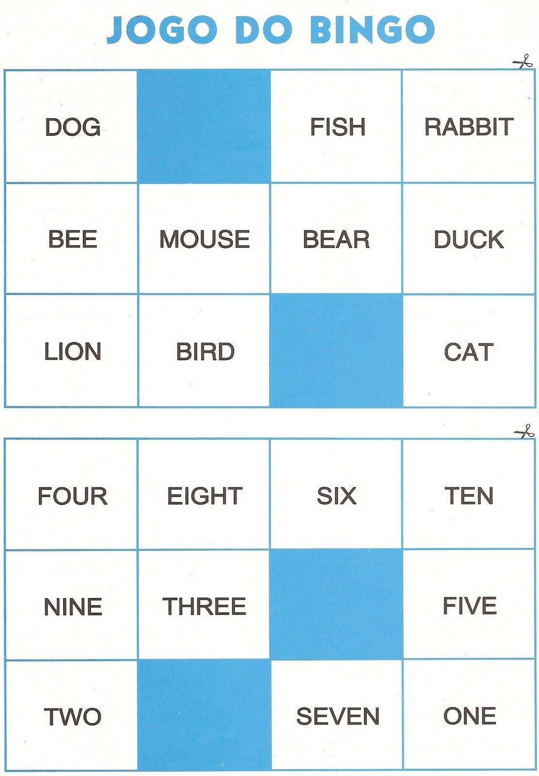 Favoritos Professora Heyla Souza: Inglês - Jogo do Bingo / Jogo da Memória  NK05