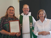 Saint Alban Mission Bishops Warden, Elizabeth Bell and Junior Warden, Mary Lou Ridinger - HONORED