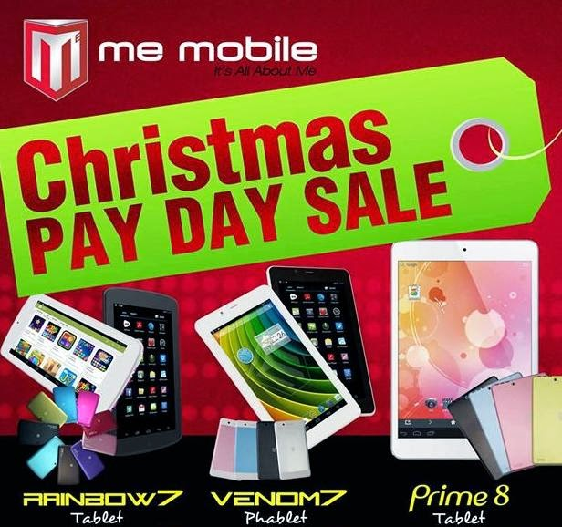 Me Mobile Triple Treat Christmas Payday Sale This November 29 and 30