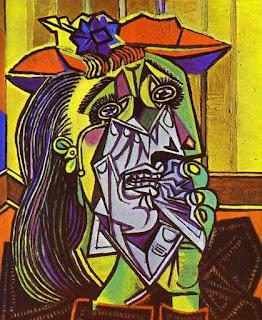 Пабло Пикассо. Плачущая женщина.