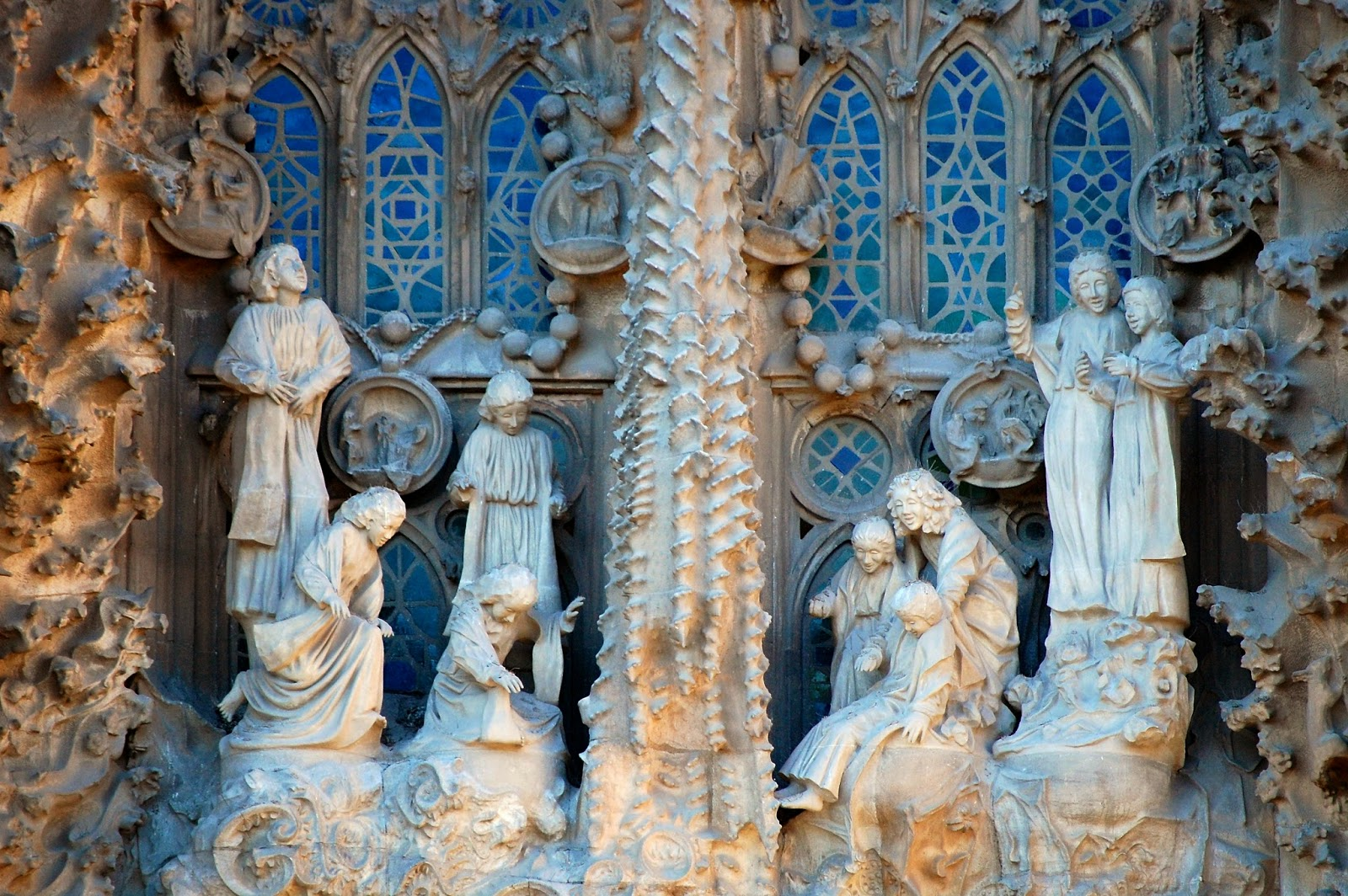 Heavenly choir sings angelic hymn on Nativity Facade, Sagrada Família