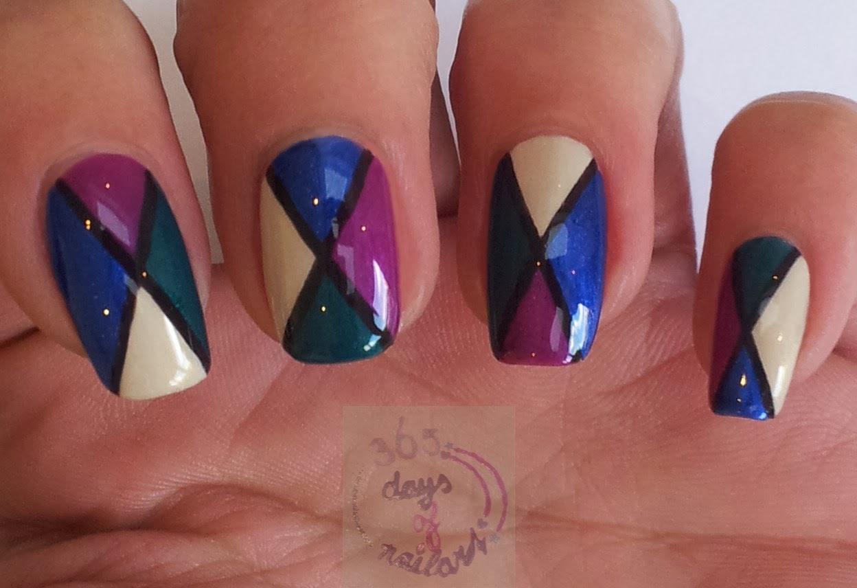 365 Days Of Nail Art Day 269 Abstract Nails Fall Colors