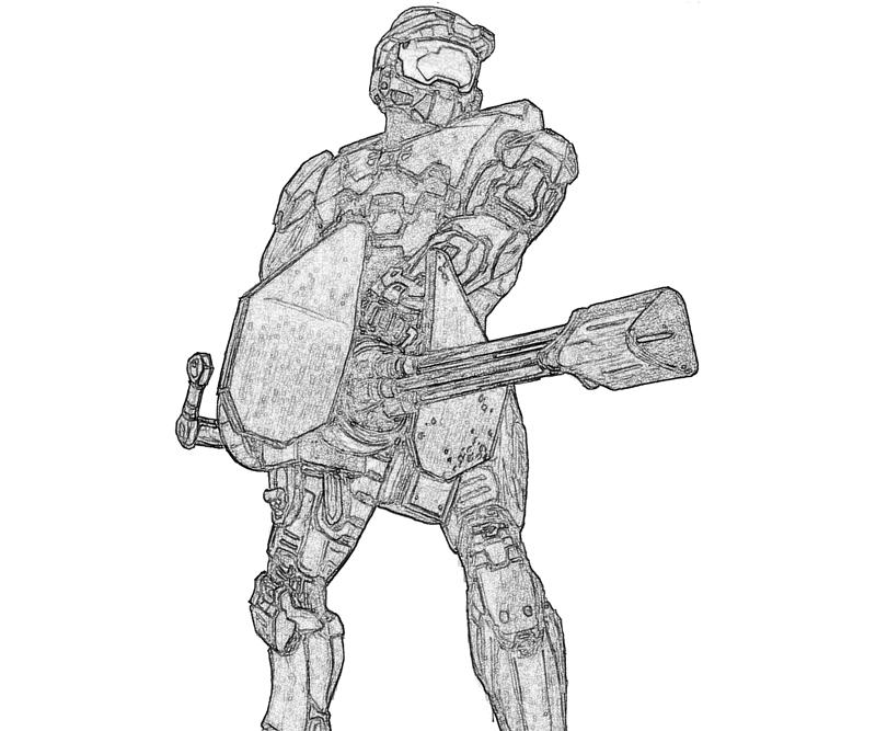 Halo 5 Colouring Pictures Halo spartan coloring pages viewing