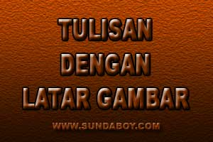 Tulisan Diatas Background