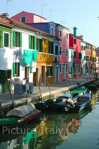 colorful island of burano photo