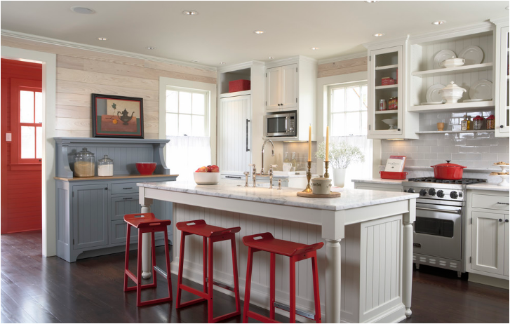 Red Kitchen Ideas Amusing With Red White and Blue Kitchen Photos
