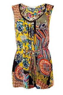 Tunika Sommer mit Ethno Muster