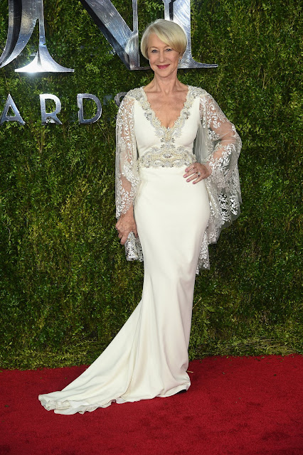 Celebrity evening dresses on the red carpet at tony awards 2015