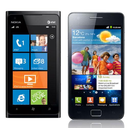 Nokia Lumia 900 Vs Samsung Galaxy S2