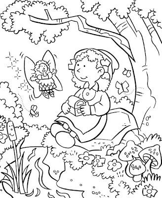 Flower Garden Coloring Sheet