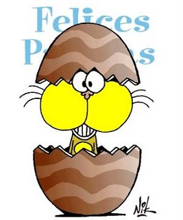 huevo pascua gato