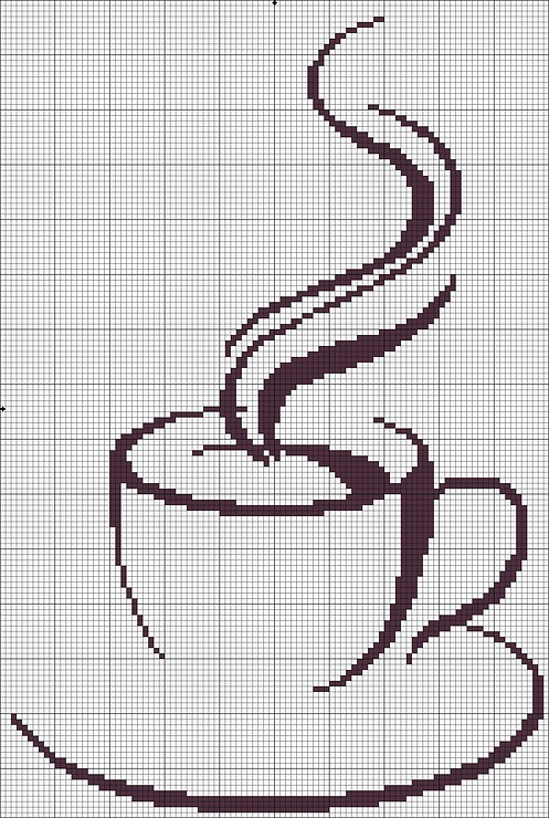Кофе вышивка схема скачать бесплатно