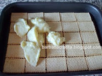 Prajitura cu mere si biscuiti + crema de vanilie preparare reteta