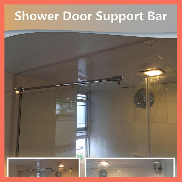 Shower Door Support Bar