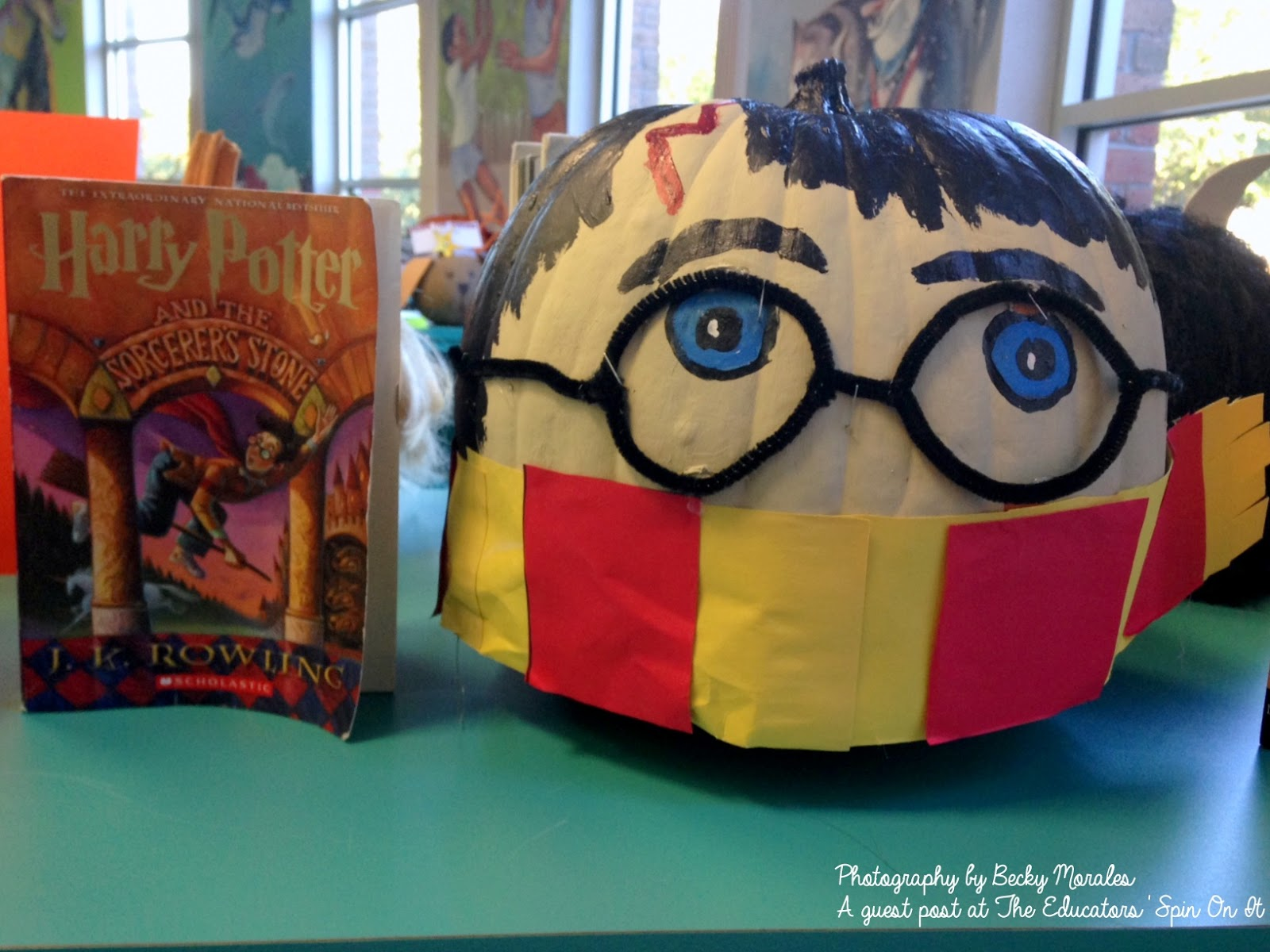 Directions on how to make the Harry Potter and the Sorcerer's Stone (Book 1) Inspired Pumpkin Character: