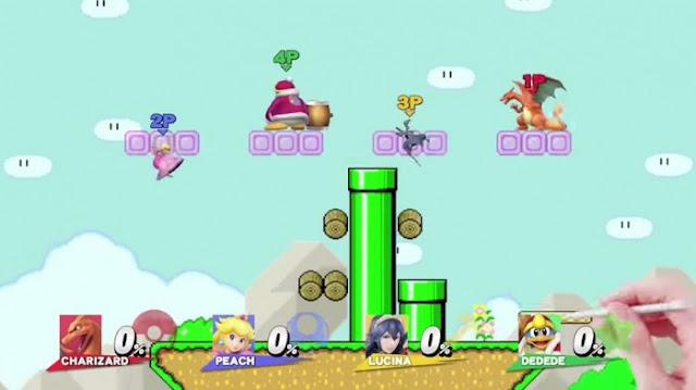 Super Smash Bros da la bienvenida a un mapa de Super Mario Maker 1