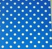Tecido para sacos - Bolinhas Brancas em fundo azul