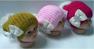 topi rajut untuk bayi