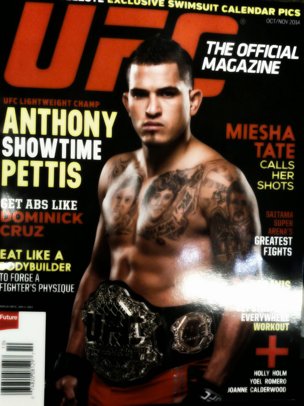 anthony pettis ufc magazine cover