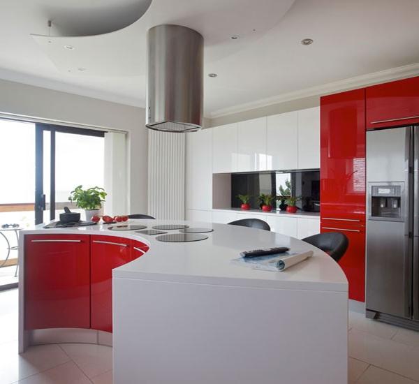 Desain dapur modern warna merah rancangan desain rumah - Schmidt kitchens ...