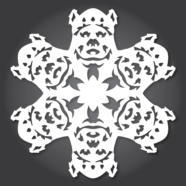 star wars theme snowflakes paper cutting, ewok