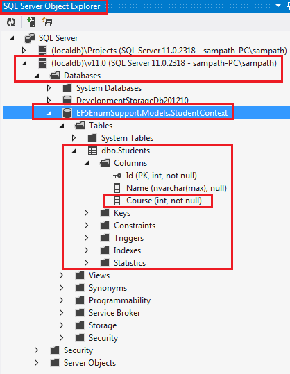 SQL Server Object Explorer in Visual Studio 2012