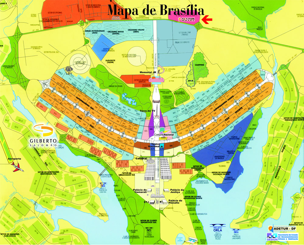 International Travels Brasilia city map