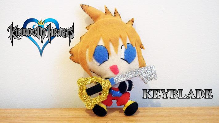 How to make a Kingdom Hearts felt keyblade Plushie tutorial
