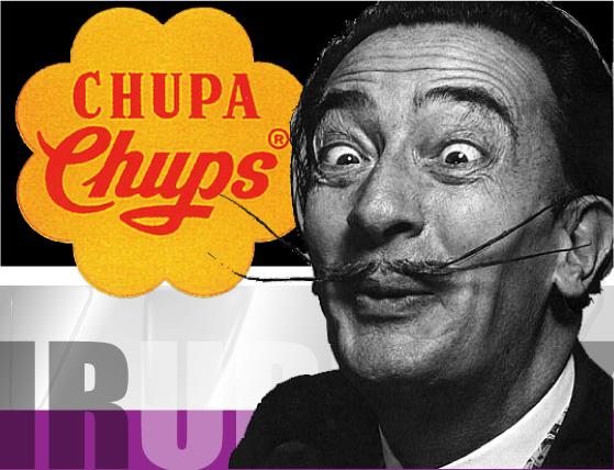 """""""Es redondo y dura mucho, Chupa chups"""" Dali y Chupa chups"""