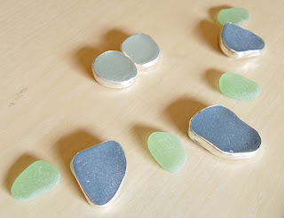 Sea Glass Jewelry in Silver