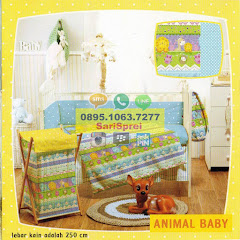 Sprei Anak Baby Crib Animal Baby