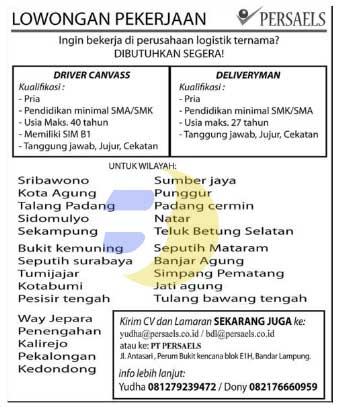 Lowongan Kerja Peusahaan Logistik Lampung