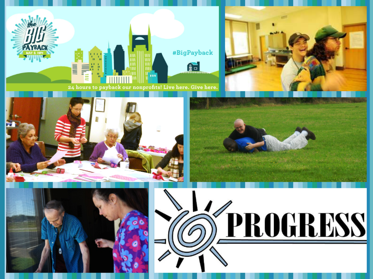 Community Foundation, Progress Inc., BigPayback, Seniors, Disability