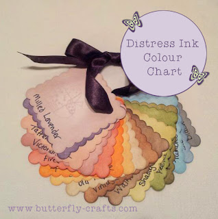 Distress Ink Colour Chart