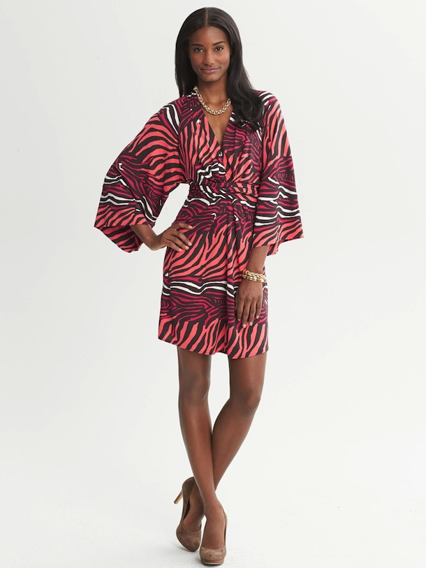 Banana Republic x Issa Wrap Kimono Dress