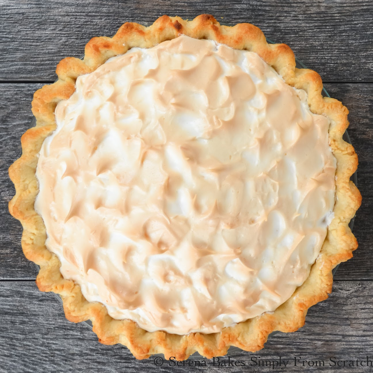 A weep free Lemon Meringue Pie for #SundaySupper.
