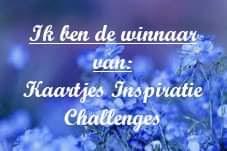 Ik ben de winnaar van de challenge 151 bij KIC