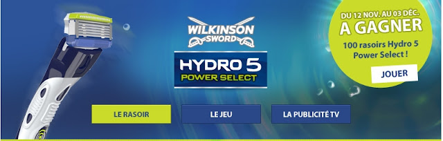 100 rasoirs Wilkinson Hydro 5 Power Select 5