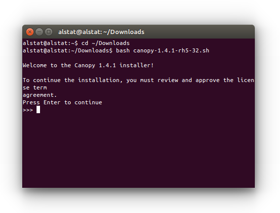 Figure 1 Canopy Installation Wizard in Ubuntu Terminal.  sc 1 st  StatsBlogs & Python: Enthought Canopy Installation in Ubuntu | StatsBlogs.com ...
