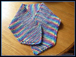 rainbow neck warmer knitting pattern